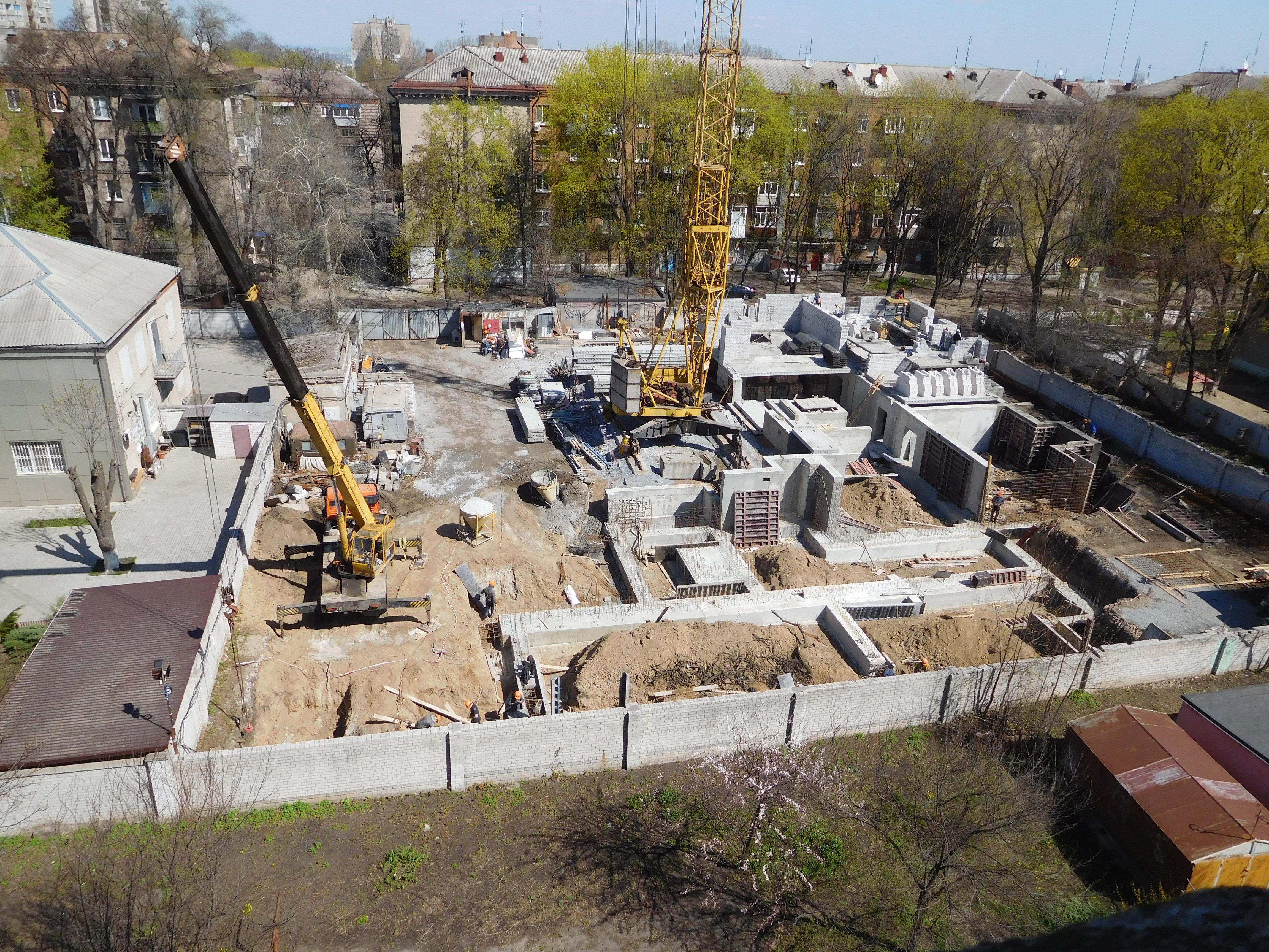 Строительство ЖК Дом на Титова — Днепр, 13.04.2017